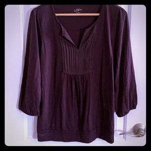 Lovely Loft Eggplant Colored Top